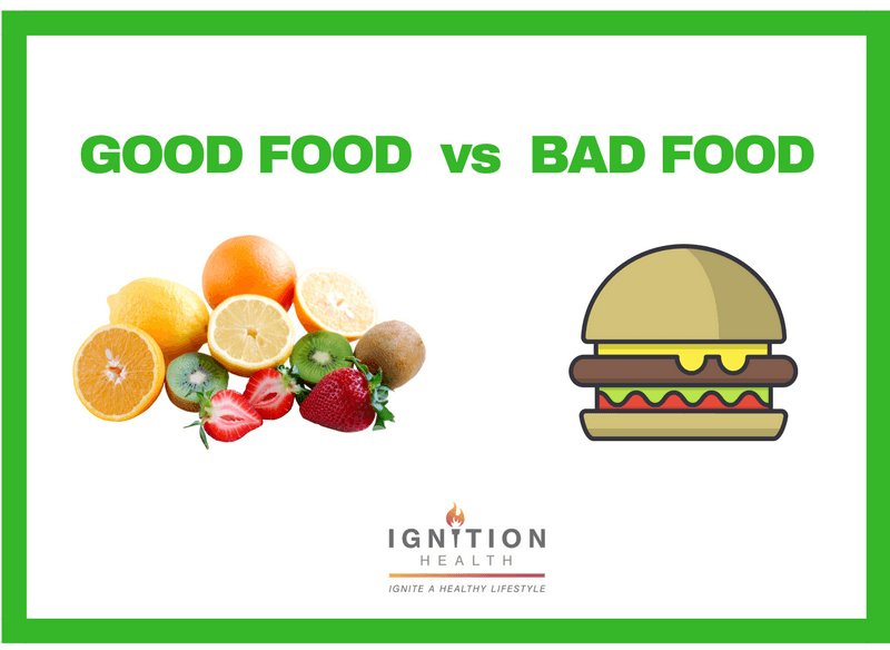Good foods vs bad foods ignition health private studio for Cuisine vs food