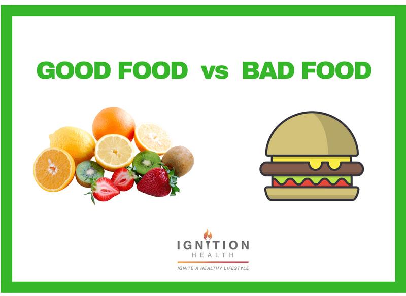 Good foods vs bad foods ignition health private studio for Cuisine vs food